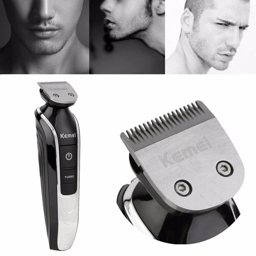 Rasoir électrique sans fil Rechargeable Durable hommes tondeuse lavable faciale Double pour feuille de bord 220 V EU Plug Double lame - 6