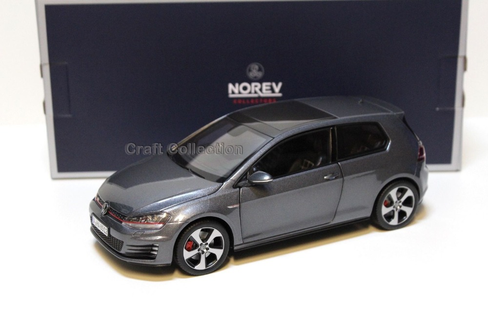 Gray 1:18 Volkswagen Golf 7 GTI MK7 2015 Hatchback Alloy Model Diecast Show Car Classic toys Scale Models Edition Limit