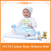 NPK 22 Polegadas 55 cm de Vinil Silicone Renascer Baby Doll Lifelike Bebê Recém-nascido Boneca Melhor Presente De Natal para Criança/Menina Da criança/Bebê brinquedos