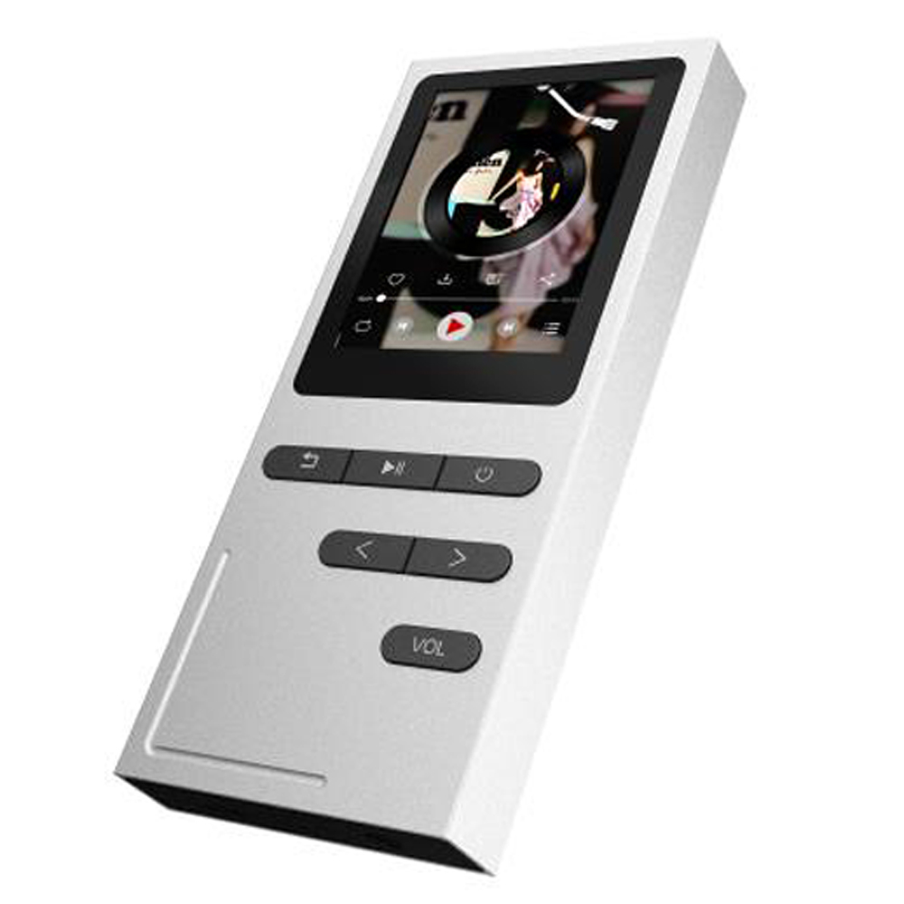 HiFi MP3 Player 8GB Metal Music Player Built-in Speaker Lossless Sound Support FM Radio Voice Recorder Expandable Up to 64GB