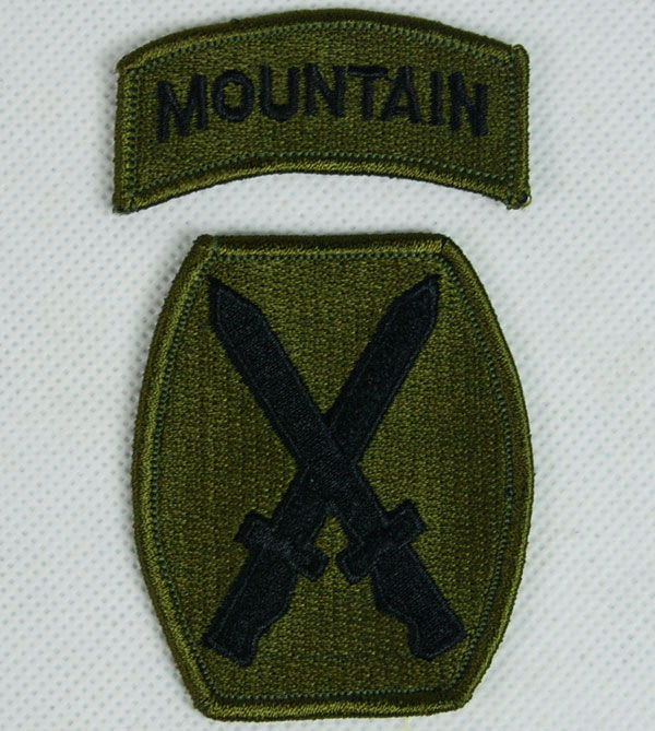 UNITED STATES US 10TH MOUNTAIN EMBROIDERED PATCH
