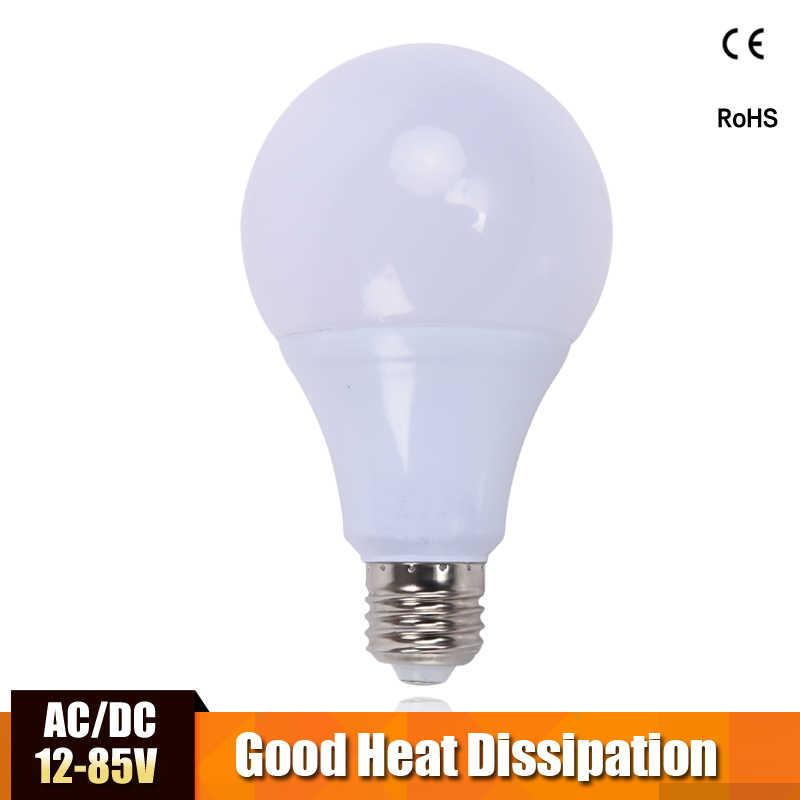 หลอดไฟ LED AC/DC 12 V 24 V 36 V E27 3 w 5 w 7 w 9 w 12 w 15 w ประหยัดพลังงาน Lampada Led 12 โวลต์หลอดไฟสำหรับโคมไฟกลางแจ้ง