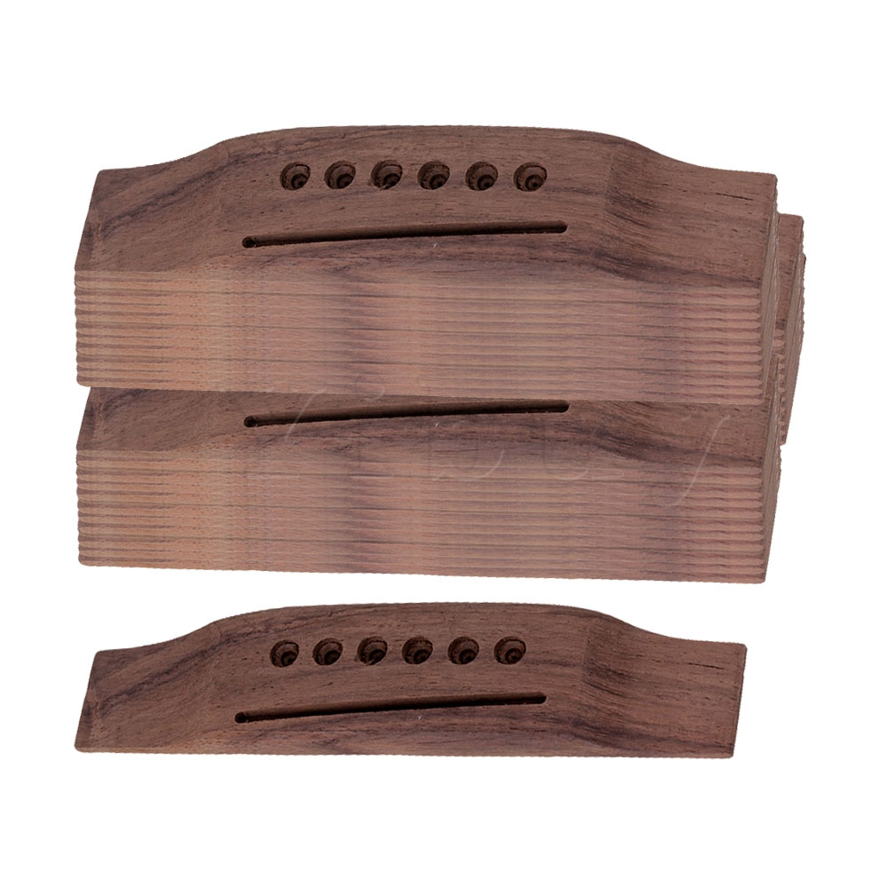 Yibuy 6 String Rosewood Saddle Thru Guitar Bridge for Folk Acoustic Guitar Set of 50 соусник elan gallery листок 15 7 5 2 5 см 2 секции