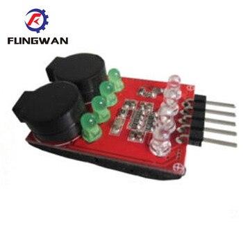 RC modelo 2S 3S 4S de detección de batería Lipo alarma de bajo voltaje zumbador altavoces duales