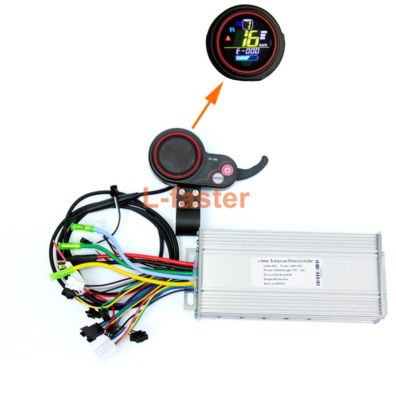 450W~1000W Electric Bike Thumb Throttle &LCD Display With Controller 800W Electric Scooter Brushless Motor Controller Screen Kit