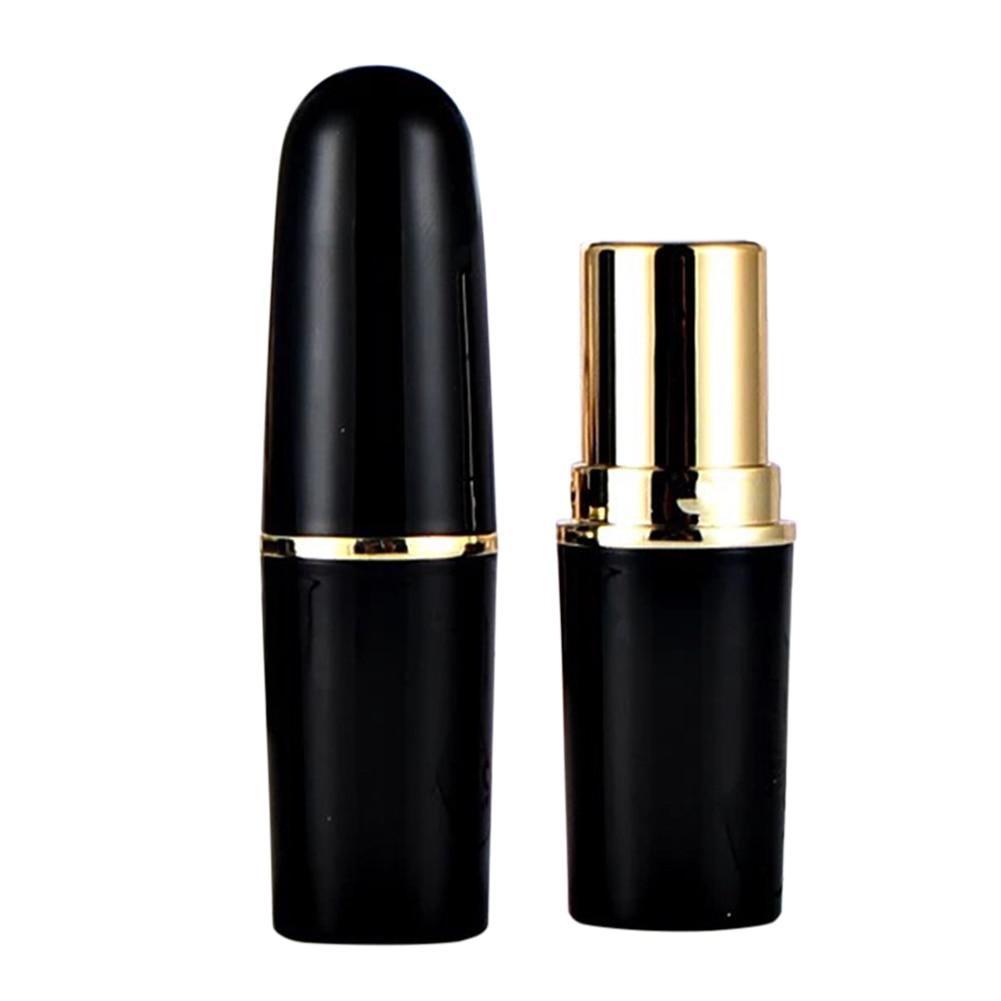 5pcs Matt Black Round Empty Lipstick Tubes DIY Pointed Lip Balm Tools Homemade Lipstick Containers Empty Cosmetic Tube