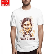 Boy Weed Mafia Scareface Luciano Capon T Shirt Pablo Escobar Tee High-Q Organic Cotton S-6XL Big Size Homme