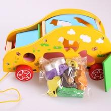 Animal trailer shape box child digital baby educational toys 1 - 2 3