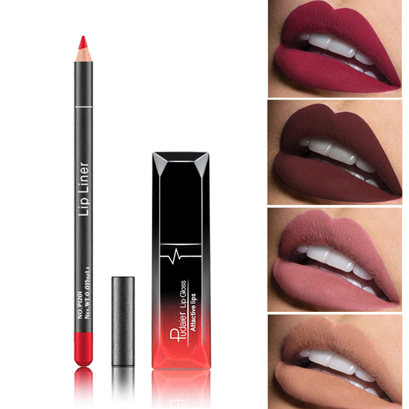 <font><b>Pudaier</b></font> <font><b>Matte</b></font> <font><b>Lip</b></font> <font><b>Gloss</b></font> Makeup <font><b>Cosmetics</b></font> Waterproof <font><b>Matte</b></font> Lipgloss + <font><b>Lip</b></font> Liner Pencil Long Lasting <font><b>Matte</b></font> Batom <font><b>Lip</b></font> Makeup Kit image