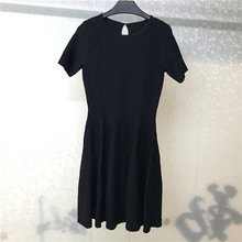 Women Dress Elegant Black Dresses Short Sleeve Knitted 2019 Autumn Ladies Vestidos