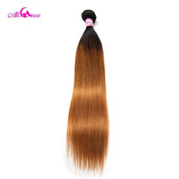Ali Coco brazylijski pasma prostych włosów kolor 1B 30 100 ludzkie włosy tkania 1 3 4 zestawy 8- 28 Cal pasma włosów typu remy oferty tanie i dobre opinie Tkactwo Ludzki włos Brazylijski włosy Maszyna wątek dwukrotnie = 10 Wyprostował Ciemniejszy kolor tylko Proste Remy włosy