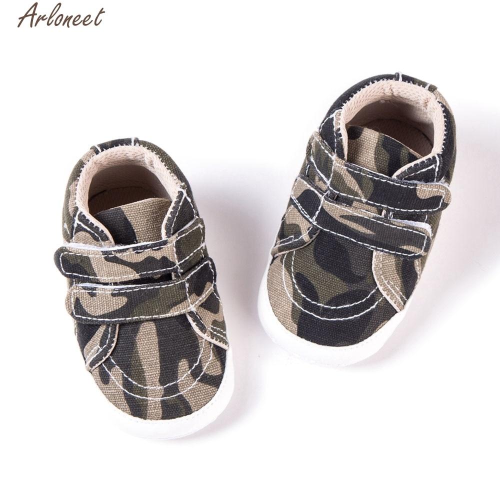 ARLONEET Newborn Toddler Baby Infants Girl Boy Camouflage Soft Anti-slip Canvas Shoes Meisje Dropship Jan15