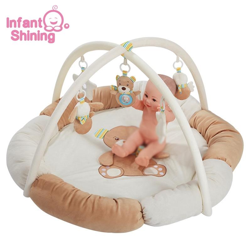 Infantile brillant bébé Gym tapis de jeu multifonctionnel bébé jouer couverture enfants tapis tapis éducatif ramper activité tapis jouets