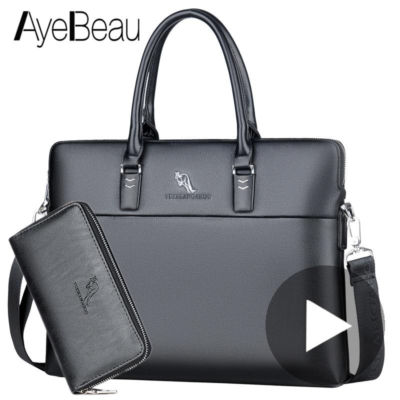 Portable Work Business Office Male Messenger Bag Men Briefcase For Document Laptop Computer Handbag Shoulder Brief Case Satchel