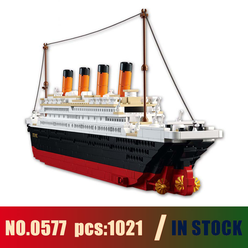Compatible with lego brinquedos 1021PCS 0577 Toy Cruise Ship RMS Titanic Boat 3D Model Building Blocks toys & hobbies