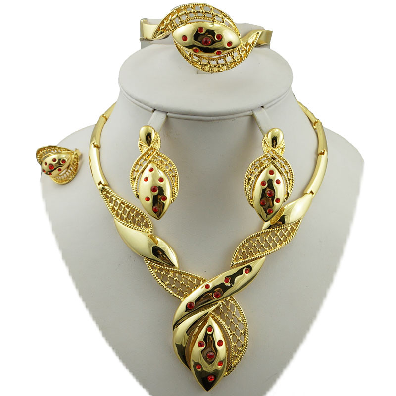 24k gold jewelry sets bridal jewelry set african big jewelry sets gold plating jewelry set women