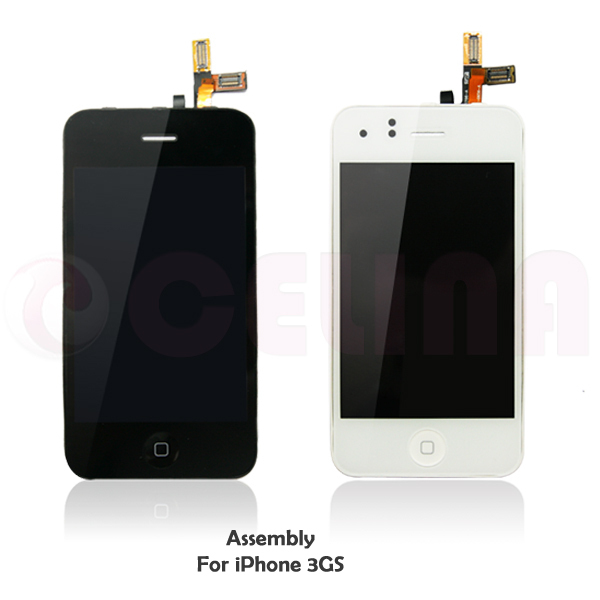 Repair LCD Screen Display Touch Digitizer Assembly For iPhone 3GS ,Black,with tools ,free shipping