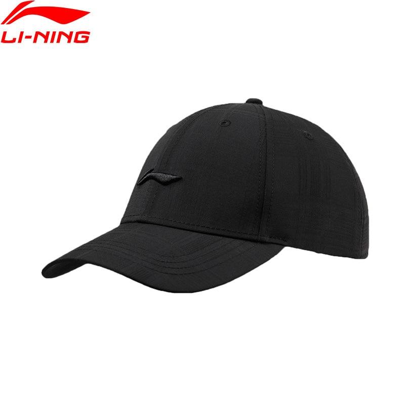 Li-Ning Men The Trend Baseball Cap 94% Polyester 6% Spandex 56-60cm LiNing Li Ning Solid Comfort Sports Caps Hats AMYP013 PMQ089