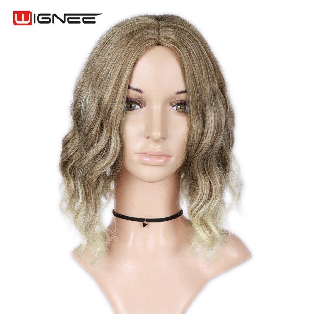 Wignee Mixed Color 613 Korta Kinky Curly Parykar För Kvinnor Hög - Syntetiskt hår - Foto 1