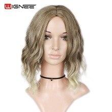 Wigne Mixed Color 613 Короткі кудрящі кучеряві парики для жінок Висока температура Афро-синтетичні парики Середня частина Cosplay Підроблені зачіски