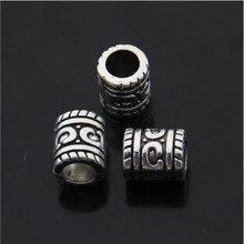 50pcs/lot Hole 5mm Antique Silver Bead Charms Big Hole Beads European Pendant fit Pandora Charm Bracelet DIY Pendants Z283 цена и фото