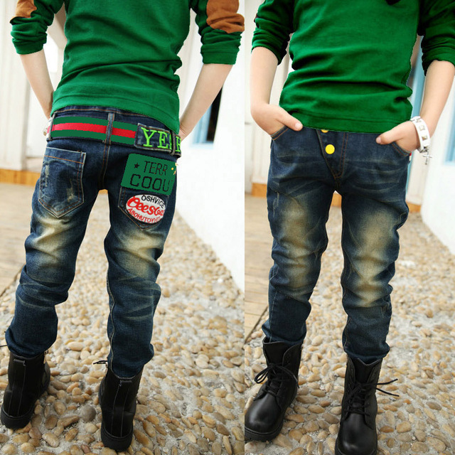 Boys jeans Spring 2016 new children's clothing children pants trousers Korean version of spring and autumn denim jeans