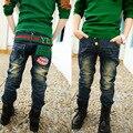 Jeans meninos calças crianças roupas de Primavera 2016 novas crianças calças versão Coreana da primavera e outono de jeans denim