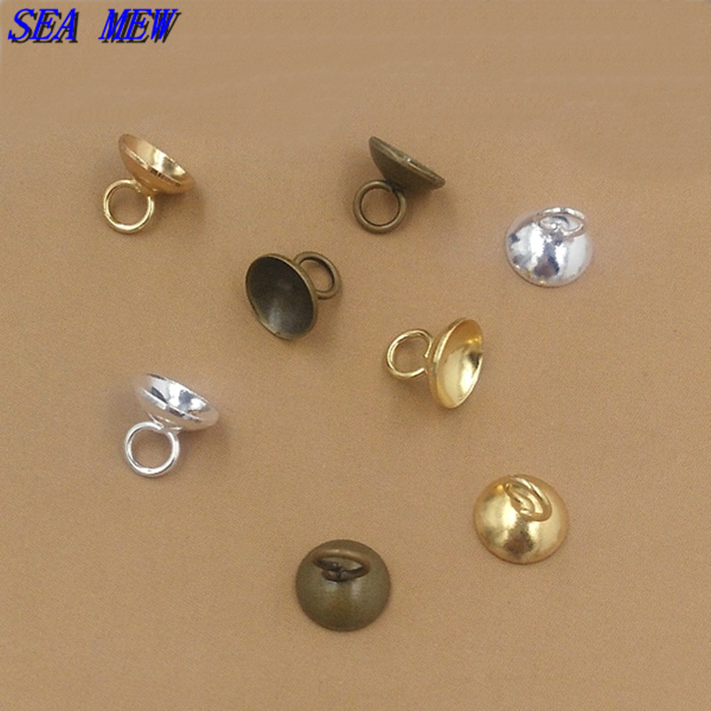 20g 50-120pcs Crimp End Beads Round Jewelry Craft Findings Wholesale 4//6mm