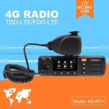 ZELLO 리얼 PTT 안드로이드 워키 토키 LTE 밴드 4G 모바일 라디오 4G w7 플러스 PTT 네트 작업 라디오 EU 버전