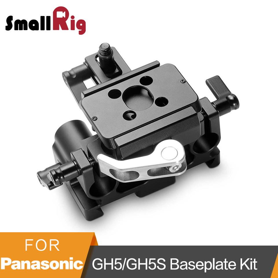 SmallRig for Panasonic Lumix GH5/GH5S 15mm Rod Rail System With Lens Adapter Support Quick Release Baseplate Kit - 2035