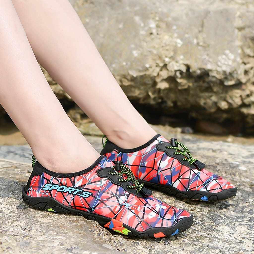 YOUYEDIAN/разноцветная Нескользящая водонепроницаемая обувь для мужчин, пара, пляжная обувь для плавания, быстросохнущие мужские пляжные тапочки на шнуровке chanclas