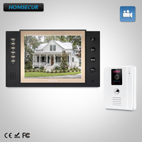 HOMSECUR 8 Wired Hands free Video Door Entry Security Intercom+LCD Color Screen TC011 W + TM801R B