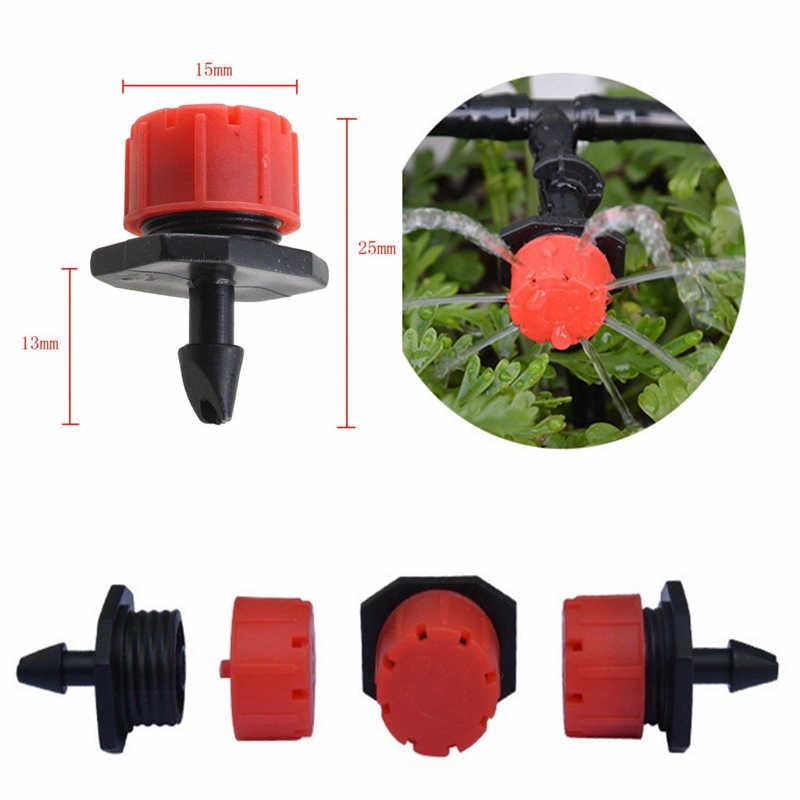 Pcs Micro Fluxo Dripper Drip Cabeça 1/4 Polegada 50 Mangueira de Jardim Sprinklers Jardim Rega Por Aspersão Ajustável Para A Agricultura