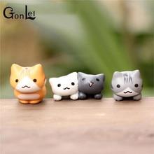 6 Pcs/Set Cute Cartoon Lazy Cats For Micro Landscape Kitten Action Figures Toy