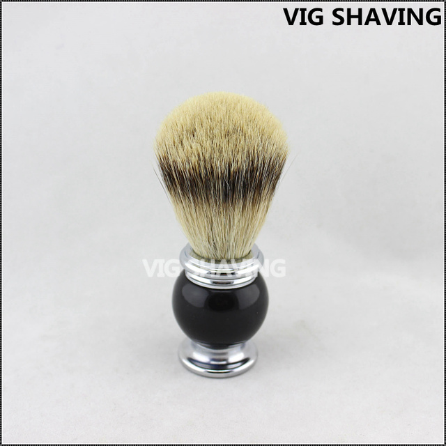 Metal and chorme plated handle Silvertip badger hair shaving brush