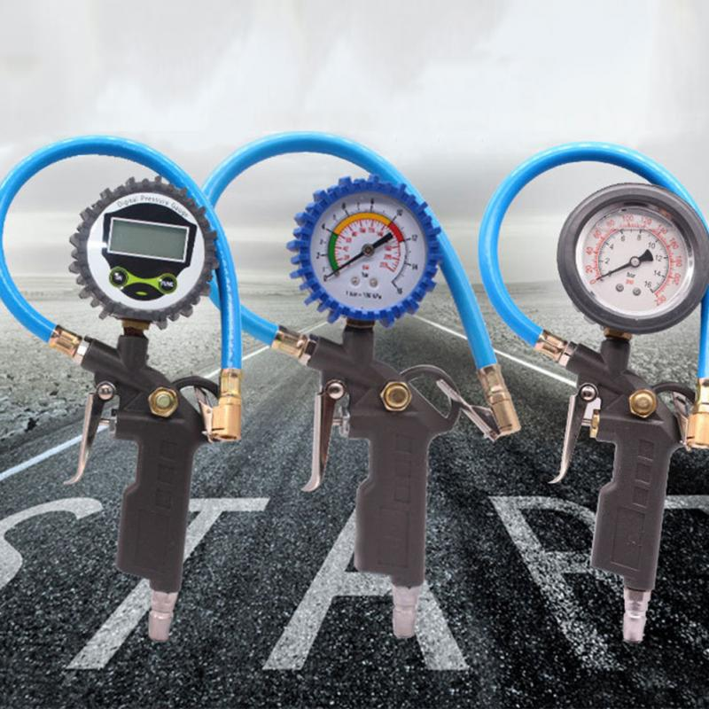 Car Auto Digital Tire Pressure Gauge Meter Tire Air Inflator Tool 220PSI 7