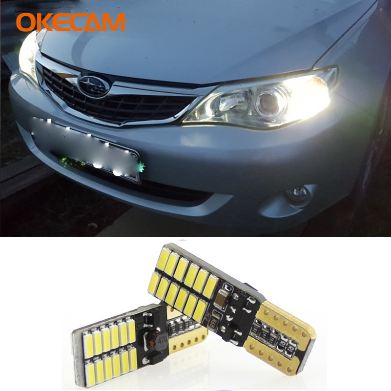 2pcs Canbus T10 W5W LED Clearance Parking Lights For Subaru Forester Impreza Legacy Outback XV Sti Wrx Brz Liberty Baja XT Justy image