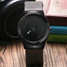 Quartz Wristwatches Pilot Clock Band Stainless-Steel Unique Casual Simple Mesh PAIDU
