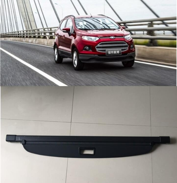 Car Rear Trunk Security Shield Shade Cargo Cover For Ford Ecosport 2013 2014 2015 2016 2017 (Black beige) car rear trunk security shield shade cargo cover for ford edge 2009 2010 2011 2012 2013 2014 2015 black beige