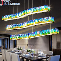 M Modern Minimalist Creative Living Room K9 Crystal Pendant Light L70*W26cm Lamp Base Colorful Personality Bar Restaurant Lamps