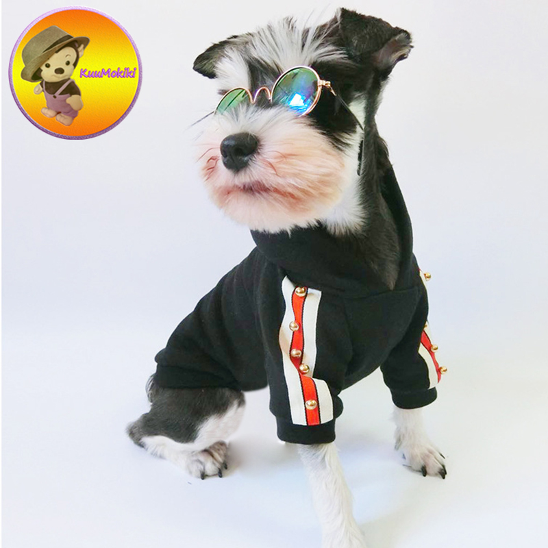 Pet Clothes Dog Hoodies Spring Autumn Winter Classy Dogs Leisure Clothing Vestidos Pet Apparel French Bulldog Clothing