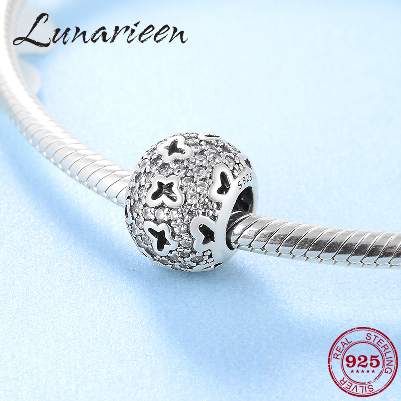 New 925 Sterling Silver Christmas girlfriend gift butterfly zircon beads Fit Original Pandora Charm Bracelet Jewelry makingNew 925 Sterling Silver Christmas girlfriend gift butterfly zircon beads Fit Original Pandora Charm Bracelet Jewelry making