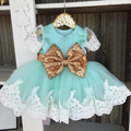lace cap sleeve turquoise kids dress for girls 8 gold silver sequin puffy toddler flower girls sequin tulle dress for wedding