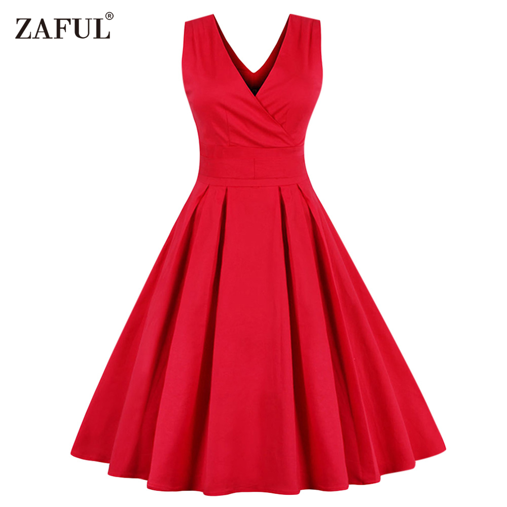 Vintage Wedding Dresses 50s 60s: Aliexpress.com : Buy ZAFUL Women Sleeveless Vintage Summer