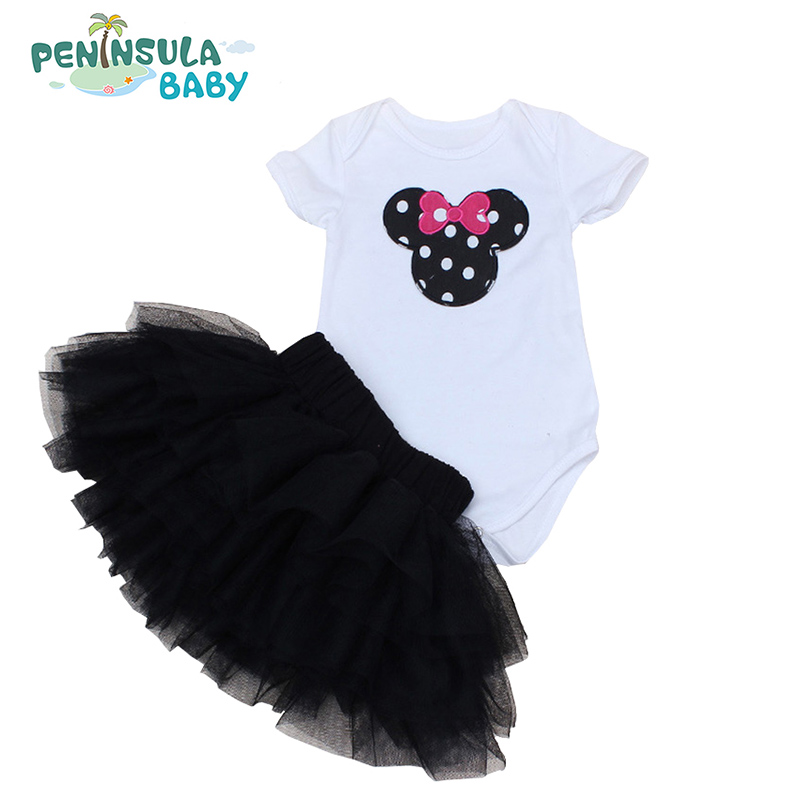 Bebe Clothing Set Summer Newborn Tutu Sets Skirts +Bodysuit 2 Pcs Clothes Baby Girl Fashion short Sleeve Bebe Clothing Set