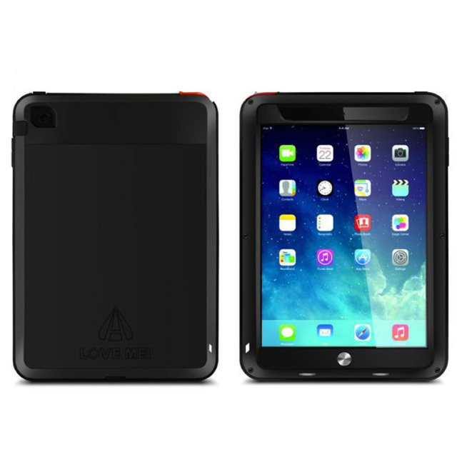 Genuino original amor mei extreme vida potente waterproof metal case para ipad mini 1 2 3 + gorilla glass