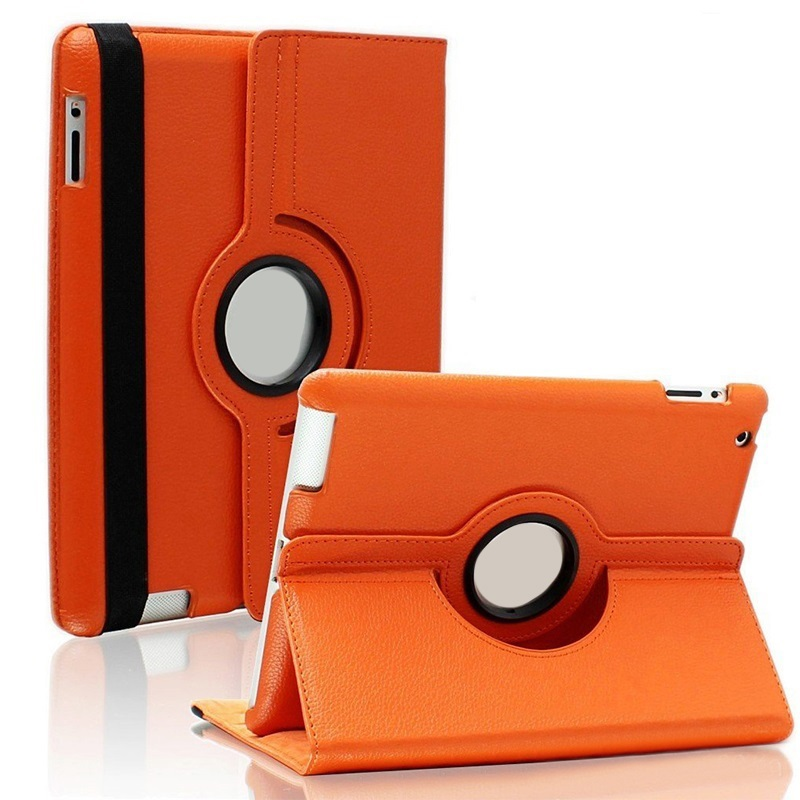 360 Rotating PU Case 9.7 For New Ipad 2017 Flip Air2 Tablet Ipad Case Multi-Angle Smart Cover Sleeve