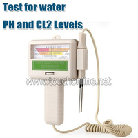 Swimming pool water tester Chlorine Tester PH value;Quick test for water PH and CL2 Levels PC101