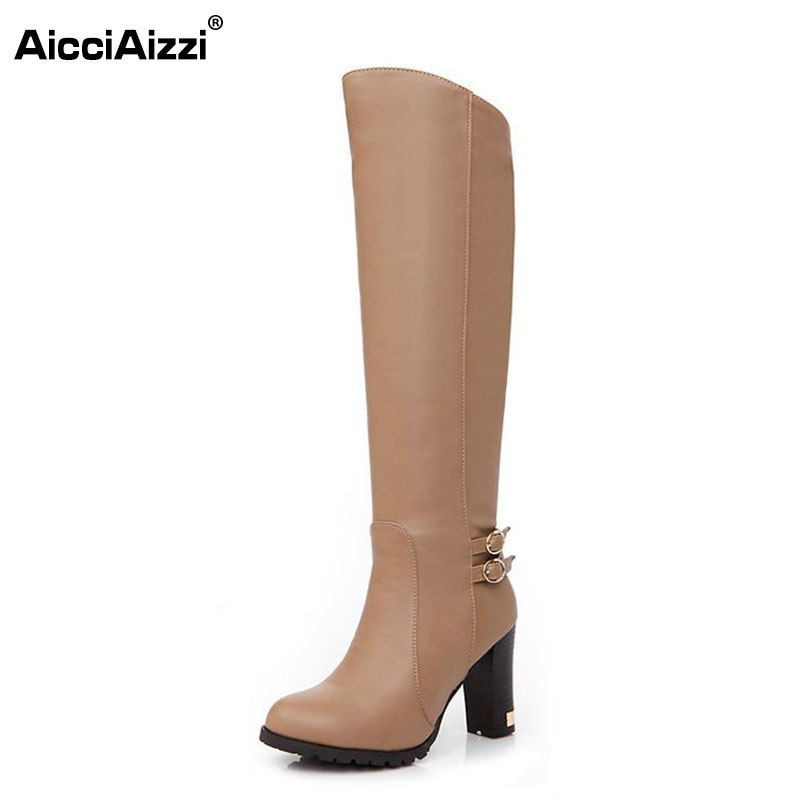 women knee boots woman fashion snow winter footwear high heel botas masculina shoes sexy warm half boot P6870 EUR size 34-43