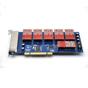 Image 4 - 24 ports PCI asterisk fxo fxs card,elastix card,trixbox card,Freeswitch,TDM800P/AEX800/TDM2400P/AEX2400 Software IP PBX System